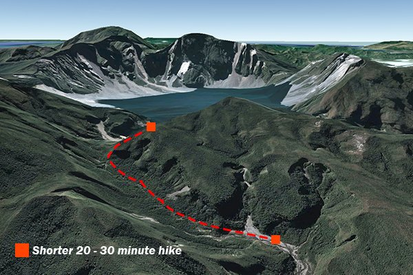 Map of hiking Mt. Pinatubo option 1