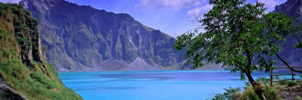 View of Mt. Pinatubo crater lake